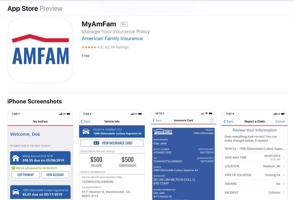American Family MyAmFam iOS