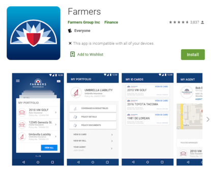 A screenshot of Farmer's App on Google Play store