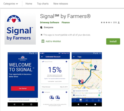 Screenshot of Signals by Farmers on Google Play Store