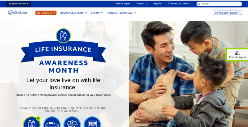 Allstate Homepage