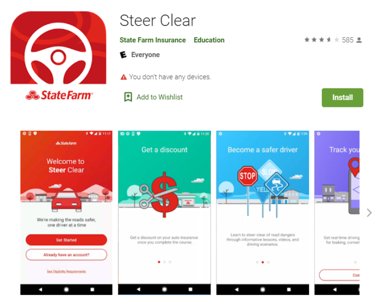 State Farm Steer Clear App