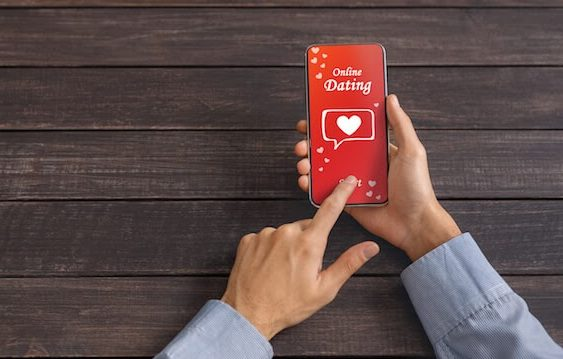 smart phone, red screen, hands, dating app, cell phone, online dating