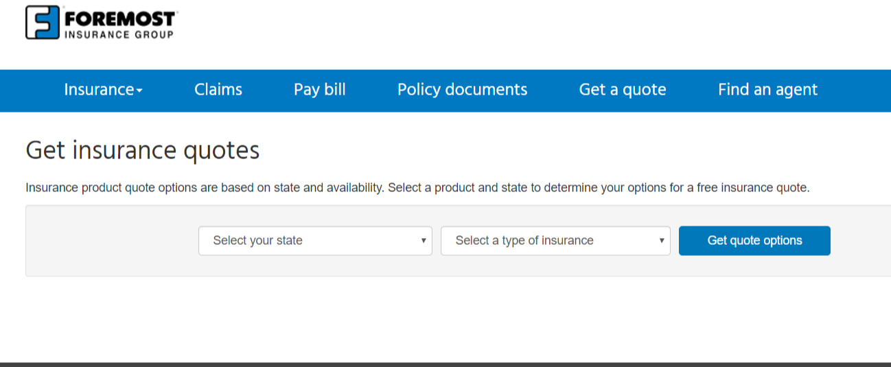Foremost Insurance Group insurance quote home page