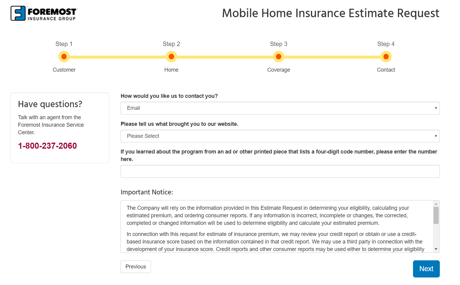 Foremost Insurance Group insurance quote contact information