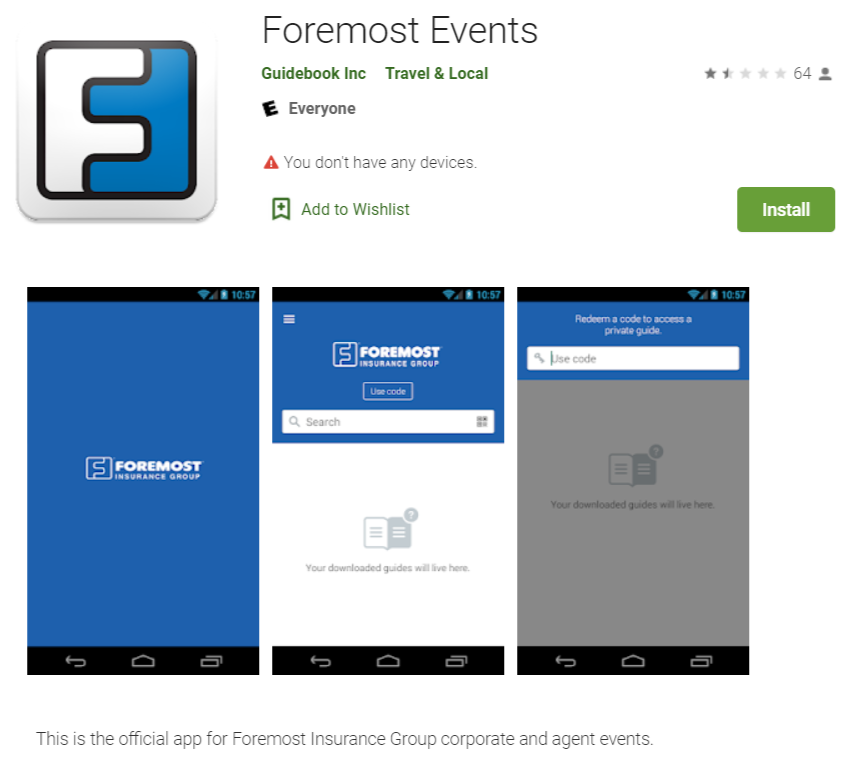 Foremost Insurance Group App screens