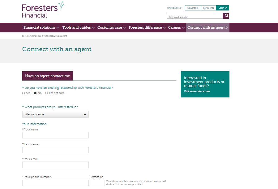 Foresters online agent finder