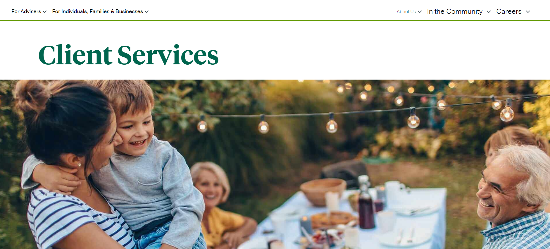 Penn Mutual Website Client services page