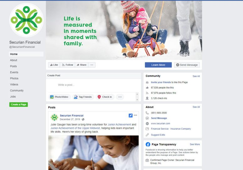 Minnesota Life (Securian Financial) Facebook Page