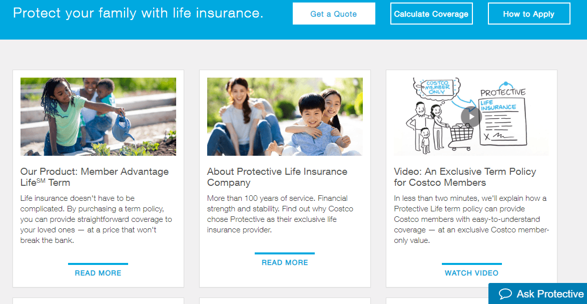 Protective Life Insurance Website Learning Center