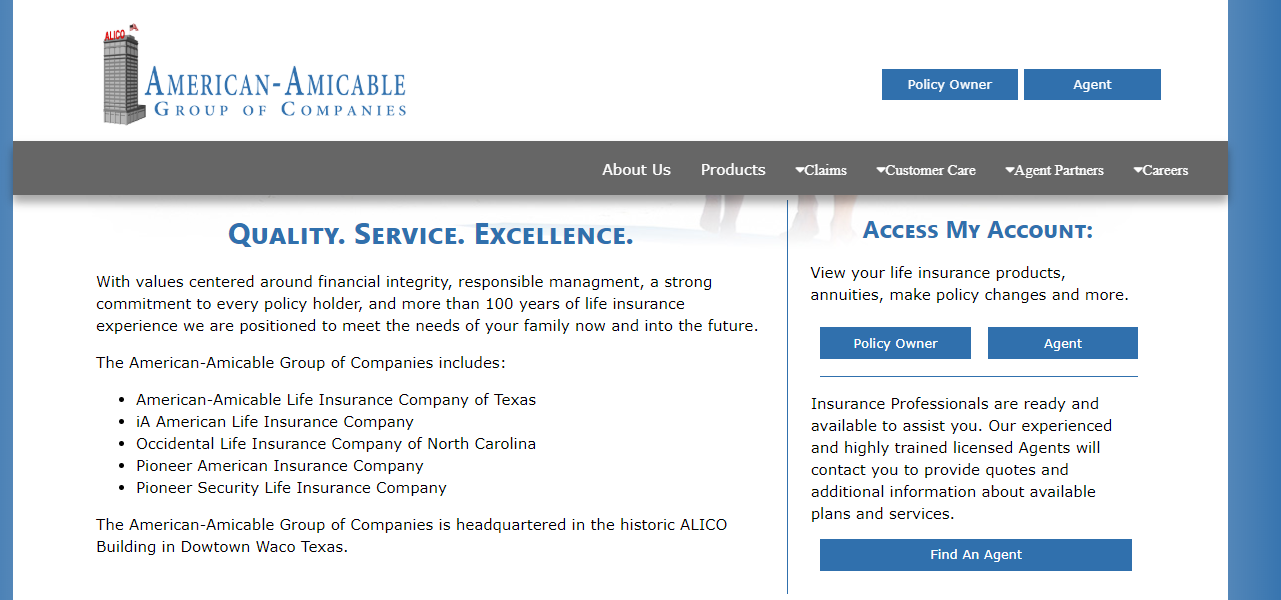 American Amicable Life Insurance Website Find an Agent