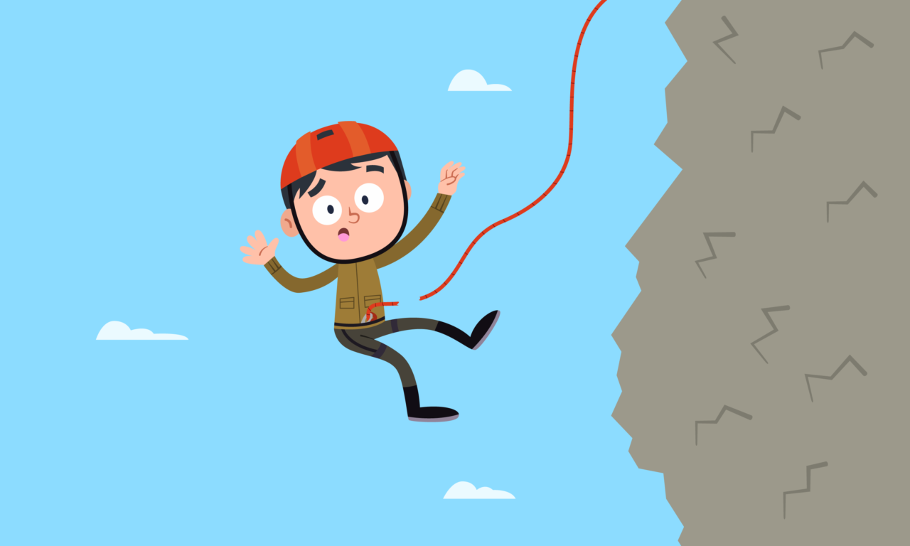 Accidental death insurance quote are a good idea for rock climbers, like the man pictured here.