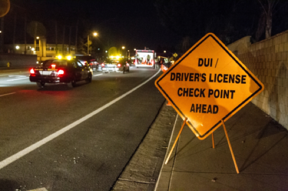Police Checkpoint for DUI and License