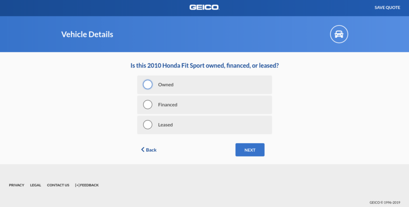 Geico Get a Quote Leased or Owned