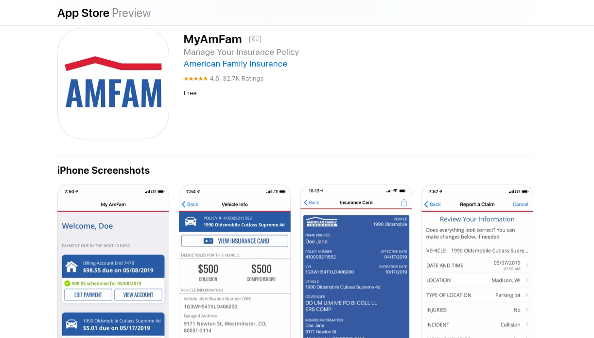 American Family App iOS-medium