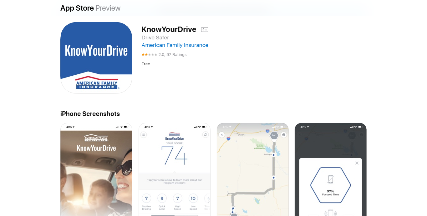 American Family KnowYourDrive iOS-medium