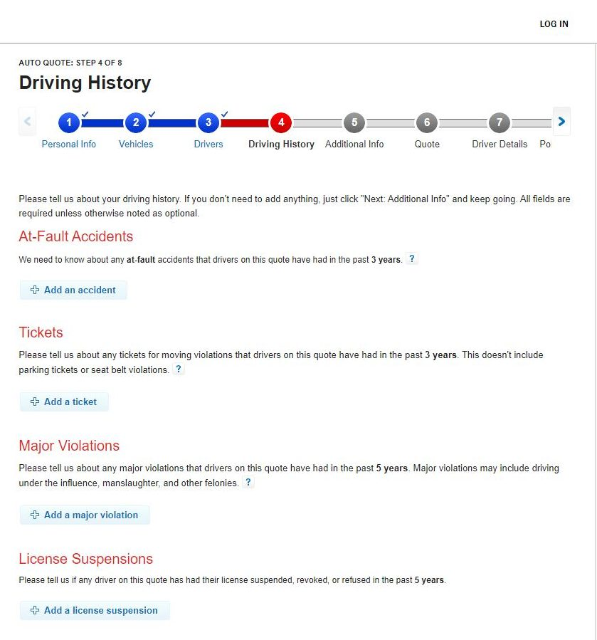 State Farm Driving History