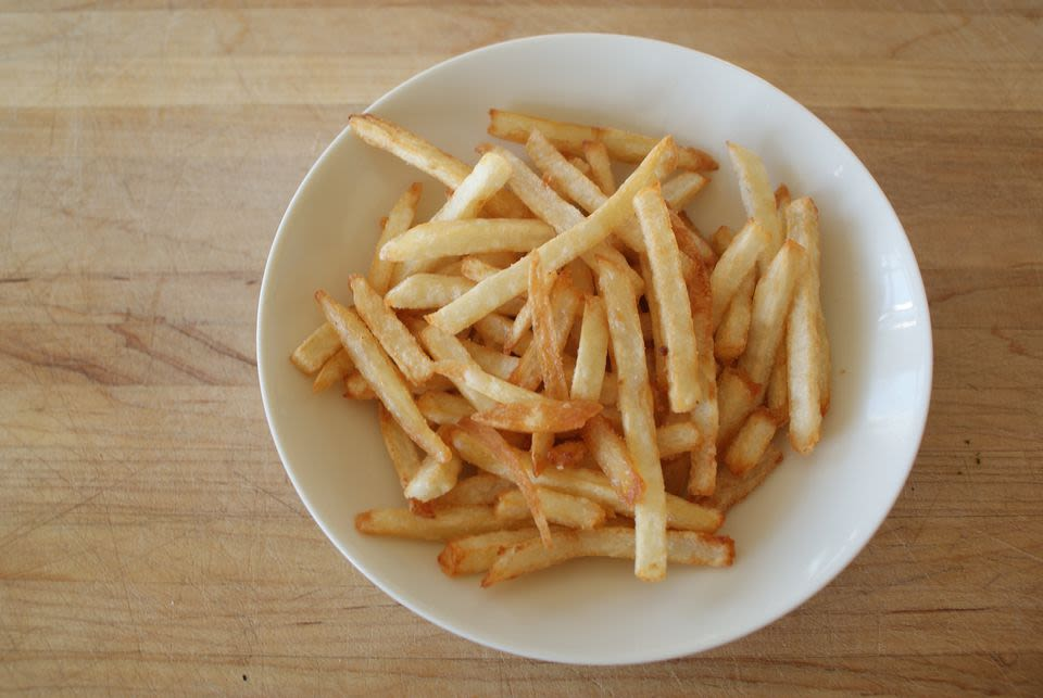 Is there any trick to make french fries be hard for a longer time? - Qurito