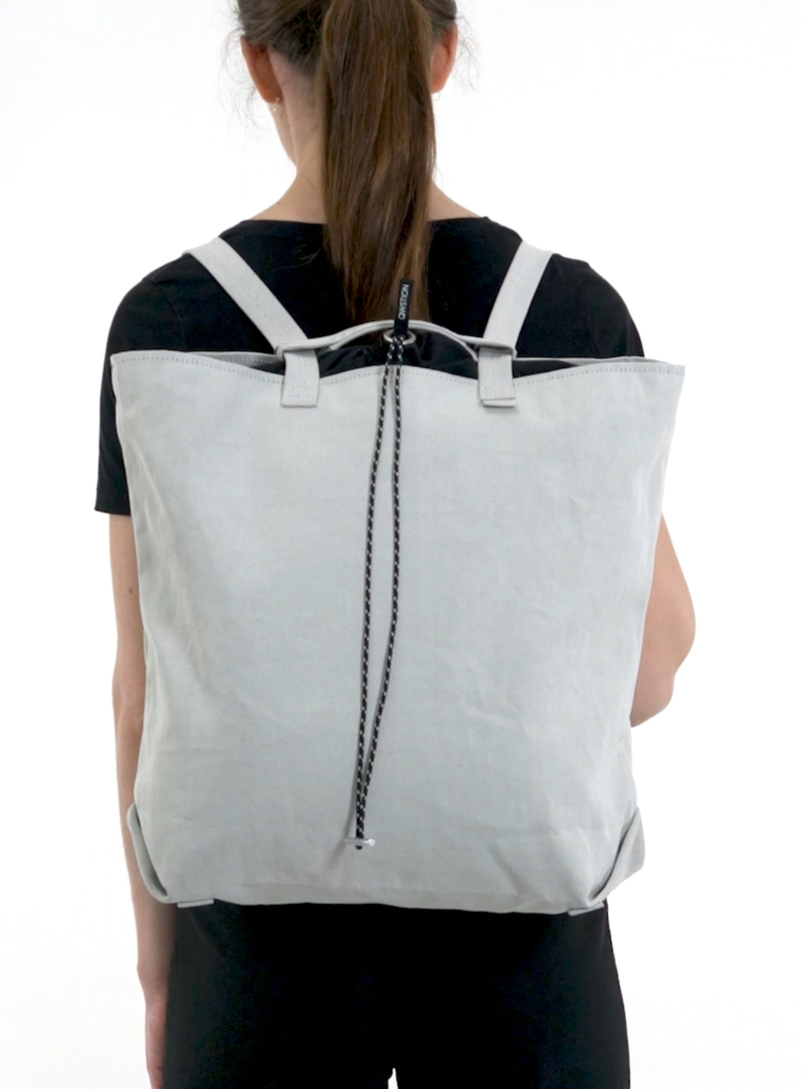 Fallback home qwstion mco tote bag large gravel raven
