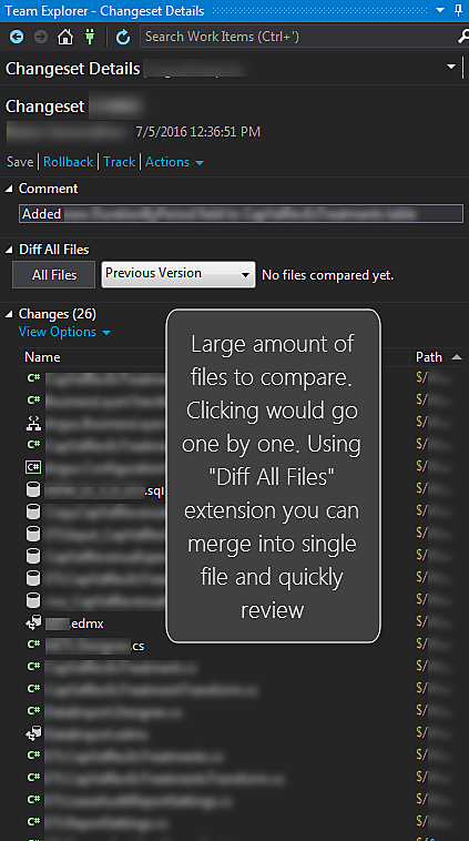 Diff All Files - Reviewing Changesets Quickly - SQLServerCentral