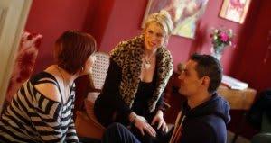 rachel with clients
