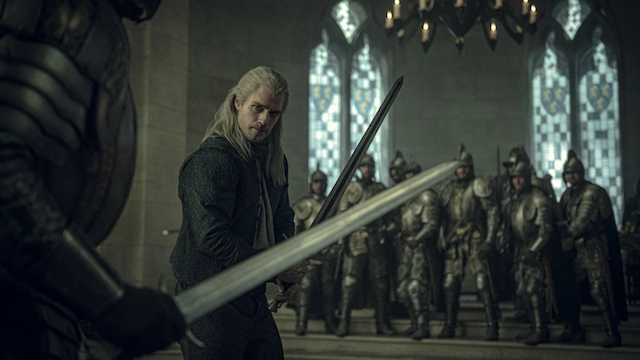 Henry Cavil as Geralt of Rivia in The Witcher