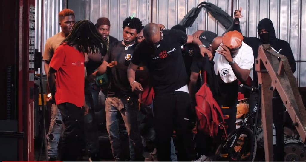 image showing members of a rap gang doing drill music in Nigeria