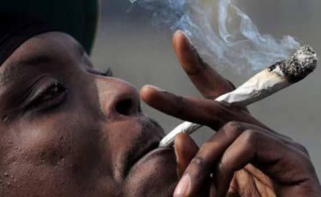 Nigerian man smoking weed