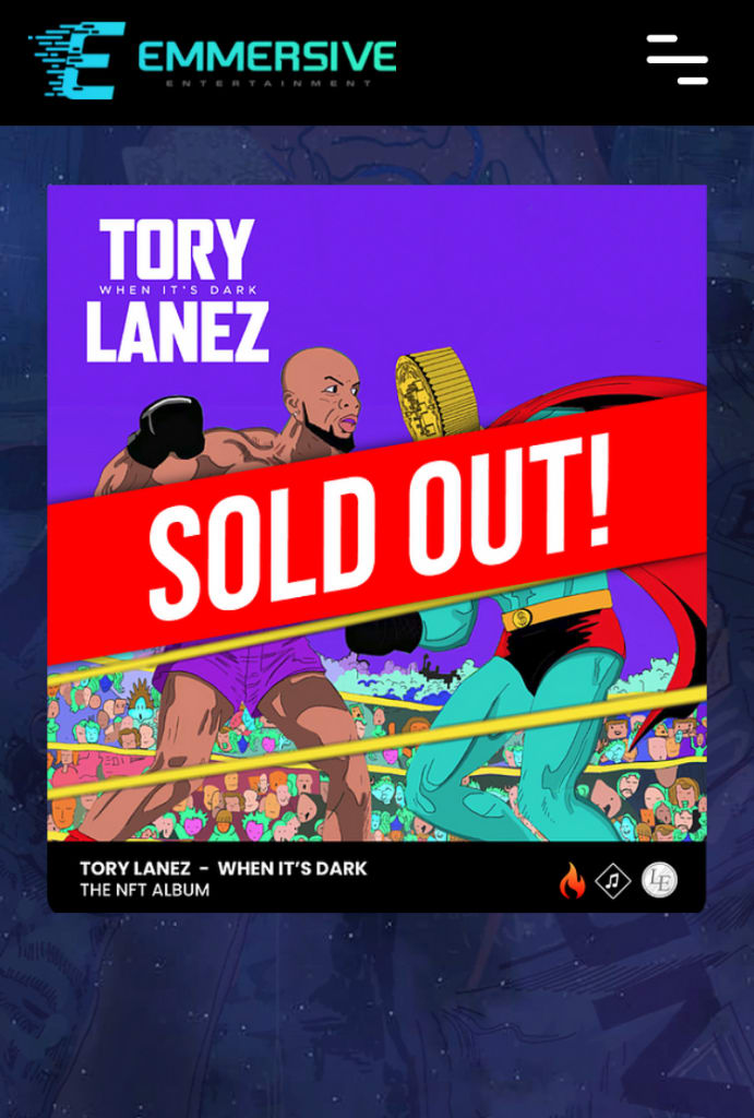 Tory Lanez first NFT music streaming album in the dark sold out