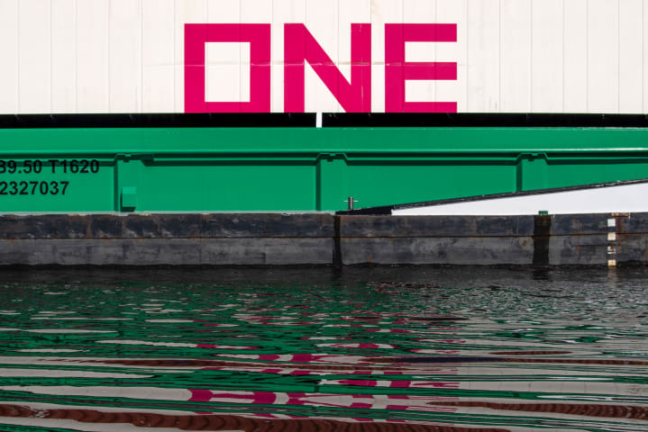 Picture with word 'One'