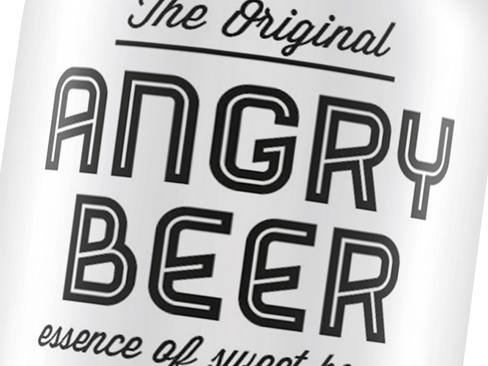 Angry Beer naming, logo e grafica packaging