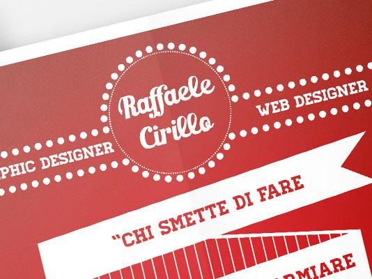 Auto promozione Raffaele Cirillo - Graphic & Web Designer