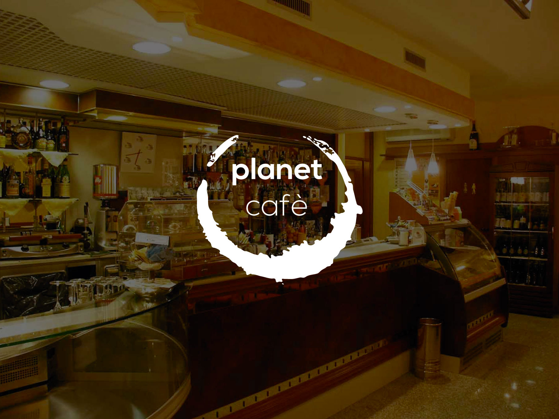 Planet Cafè naming e logo