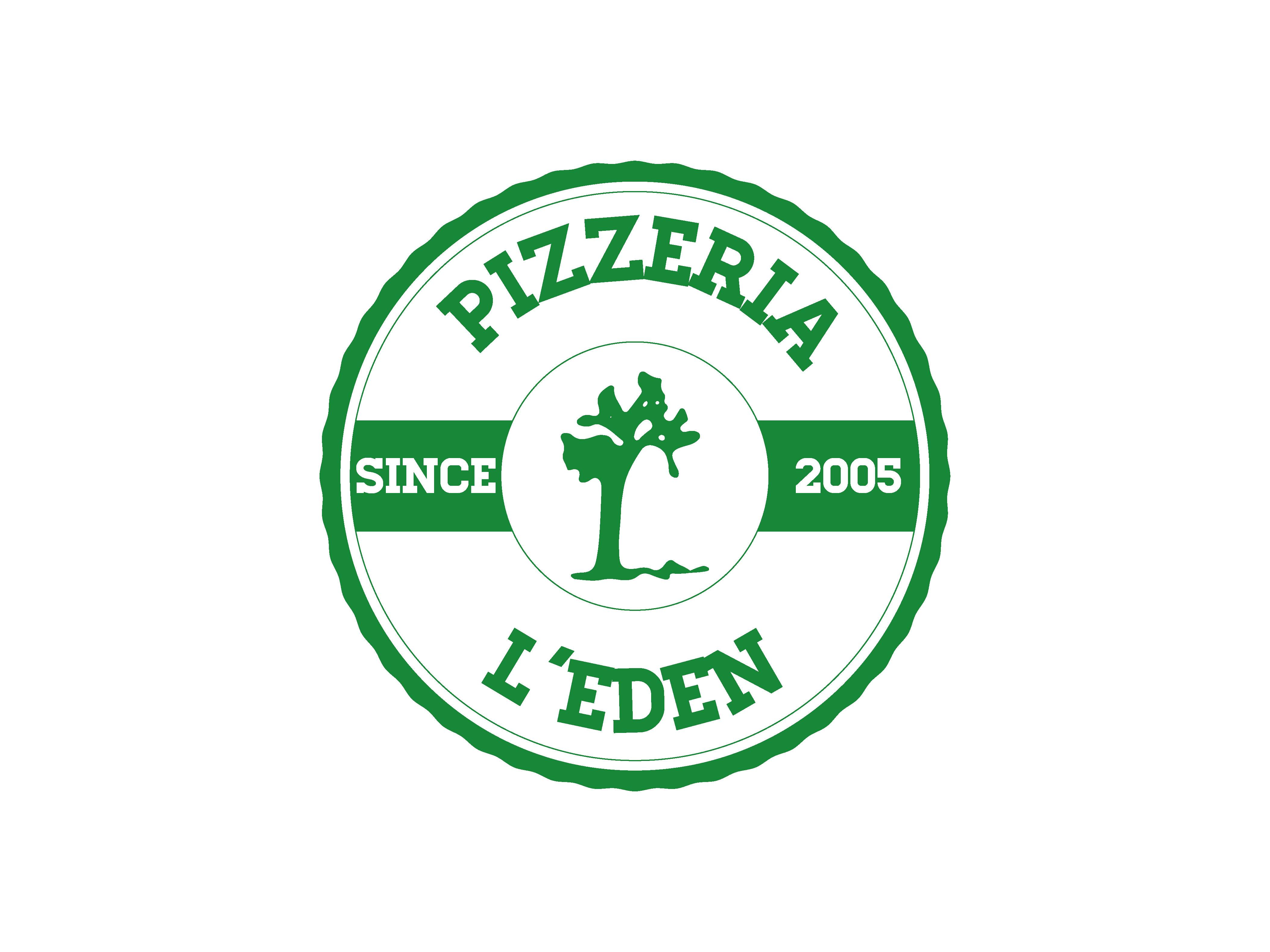 Pizzeria L'Eden naming e logo