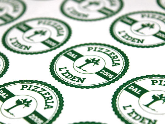 Adesivi Pizzeria L'Eden