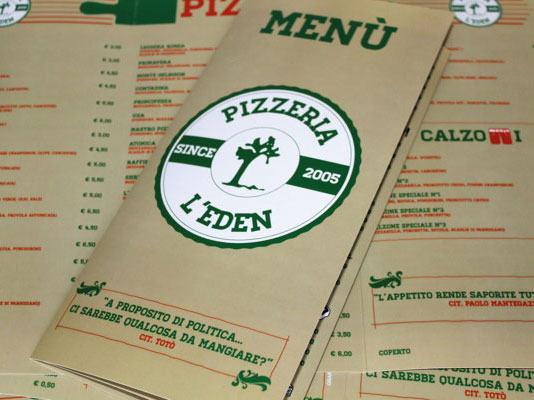 Menù Pizzeria L'Eden