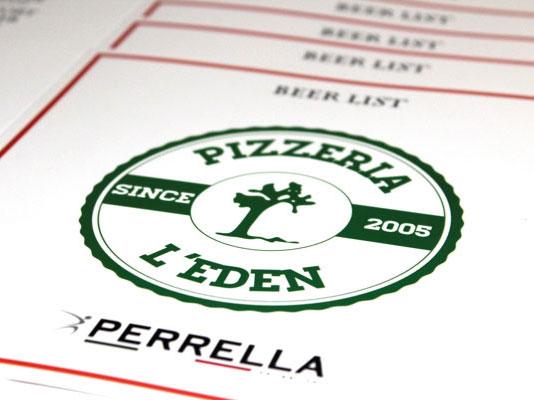 Carta delle birre Pizzeria L'Eden