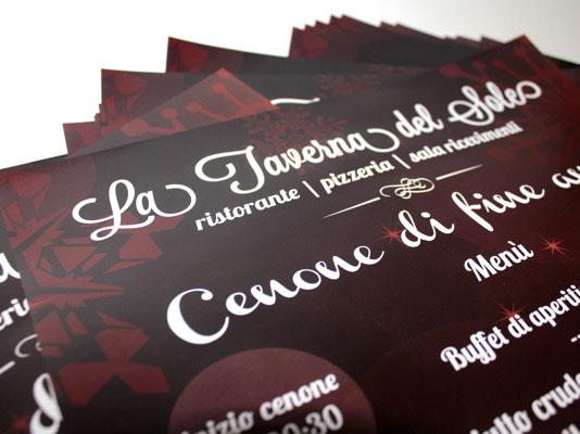Grafica e stampa poster Super A3 cenone di Capodanno La Taverna del Sole
