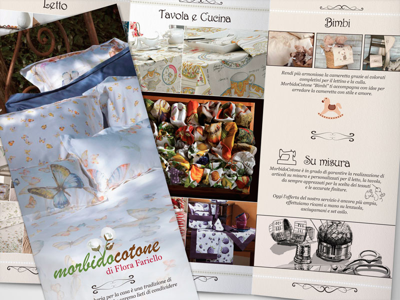 Grafica | Brochure boutique Morbido Cotone