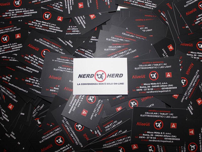 Grafica e stampa bigliettini da visita Nerd Herd