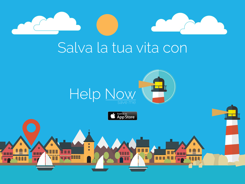 App Help Now - Save me naming e logo