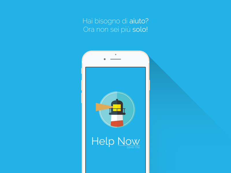 App Help Now - Save me UI e UX
