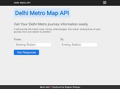 Delhi Metro Map API