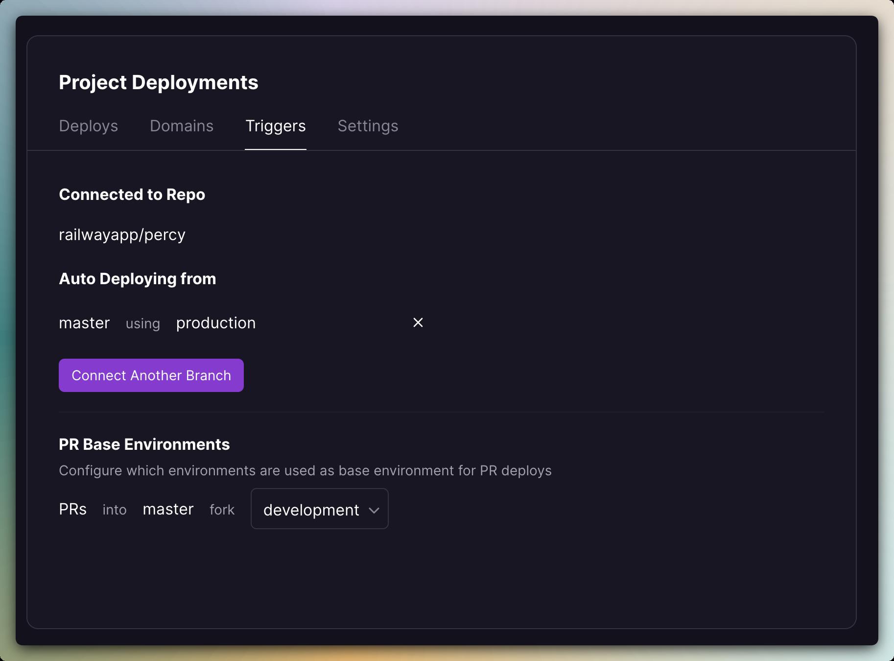 Screenshot of GitHub Integration