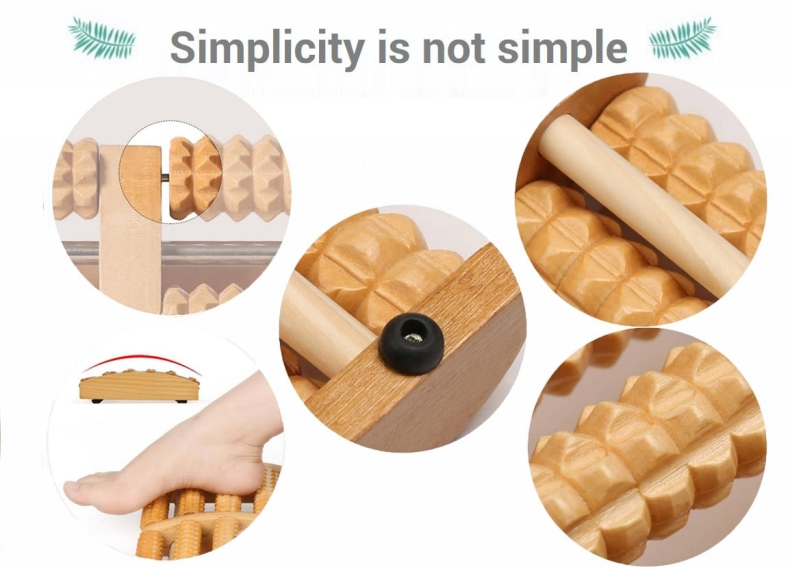 wooden foot roller massager