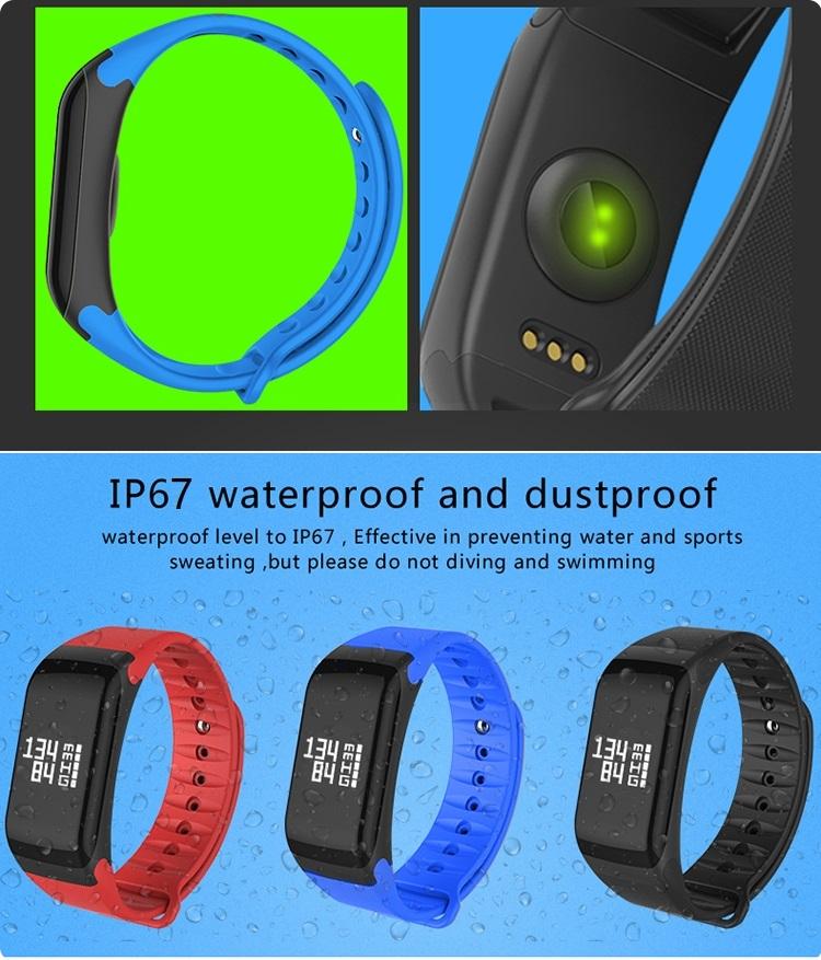 Waterproof fitness tracker watch