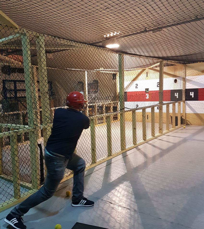 Harry batting at Base mcr
