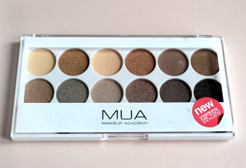 A picture of MUA undress me too palette