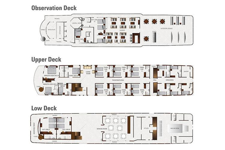 Perla detailed Deck plan