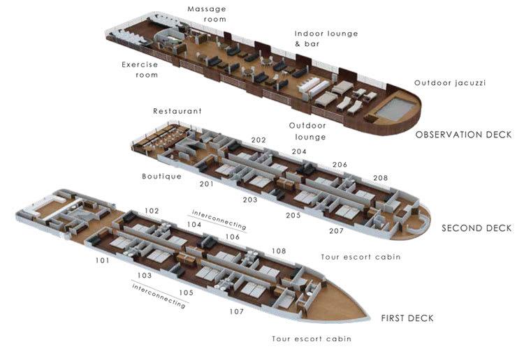 Aria Amazon Deck Plan