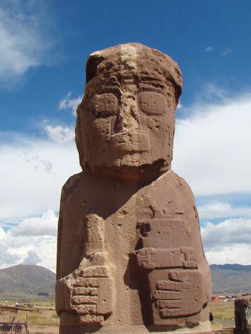 Rock statue in Bolivia